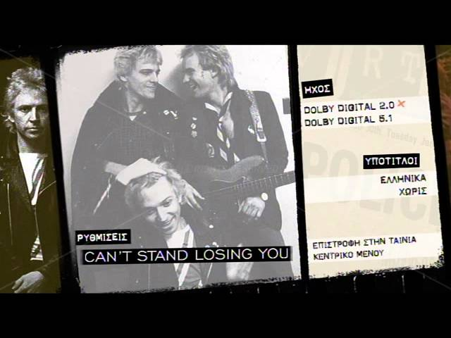 Cant stand loosing you (DVD)